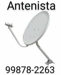 Título do anúncio: Instalador de antenas (antenista)