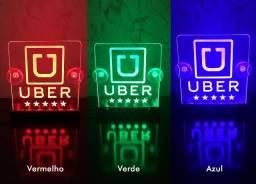 Placa plaquinha Luminoso Uber 99pop cabify led em acrílico