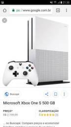 Xbox One S 500GBWhite + 2 jogos