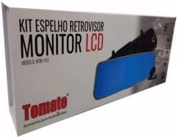 Retrovisor com câmera de ré e câmera frontal tomate