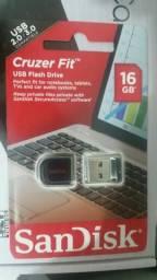 Pendrive 16 gb SanDisk nano com Windows 10