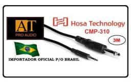"Hosa Technology Cabo P2 x P10 mono 3m 3.5mm x 1/4"" ñ Santo Angelo Neutrik Mogami Pro Co"