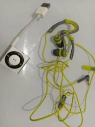Ipode shuffle 2gb + fone de ouvido philips