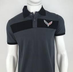 61a3c6c0881 194 Camisa Polo Masculina Corvette Oficial Licenciado Camiseta P e M  Original Promoção