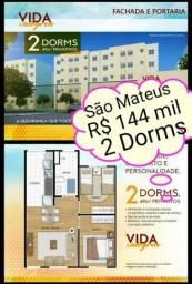 Seu primeiro apartamento 144 mil 2 dorms 49m² Whats *