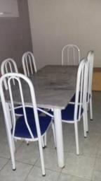 Mesa de Mármore 6 Cadeiras