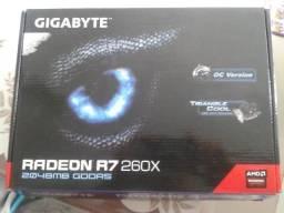 Placa de vídeo R7 260X 2GB *Leia descrição