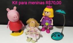 Kit com vários brinquedos