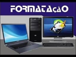 Formatação e limpeza de computador e notebook a domicilio