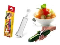 Descascador e boleador de legumes plástico branco keita - kei 001
