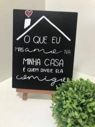 Placa decorativa em mdf