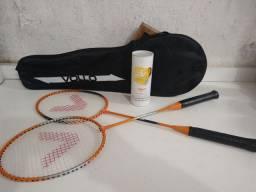 Raquetes e petecas para badminton