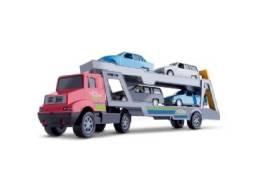Brinquedo Carreta Mini Truck 40 cm com 4 Carros (Entrega Imediata)