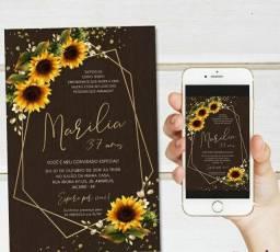 Convite digital simples e interativo, cartão de visita digital interativo, etc...