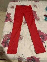 calça vermelha 40/42