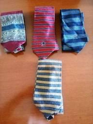 Lote de Gravatas Masculinas Importadas E Nacionais ( 08 Pçs)