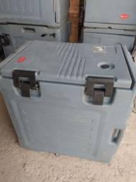 Caixa box térmico para 6 bandejas transporte de comida buffet