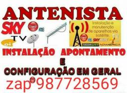 Título do anúncio: Técnico de antenas