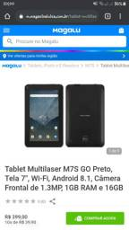 Vende-se tablet informações chama inbox.