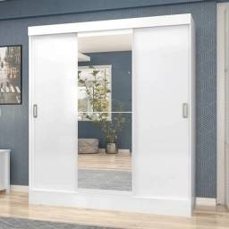 Guarda Roupa 3 Portas com Espelho San Marino Maxel Móveis - Opção sem espelho