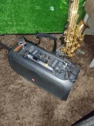 Título do anúncio: Boombox com microfone