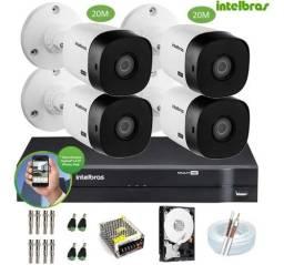KIT Câmeras de segurança CFTV comercial e residencial Intelbras