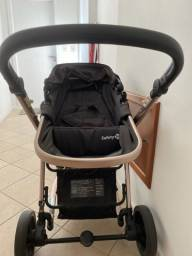Título do anúncio: Carrinho de bebê completo safety black rose semi novo inclui a cadeirinha para carro