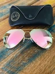 Óculos Ray Ban original Rosa espelhado G