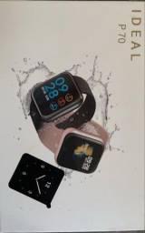 Relógio Feminino Smart Watch P70 duas pulseiras rosê