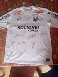 Título do anúncio: Camisa oficial do Santos Futebol Clube. Assinada