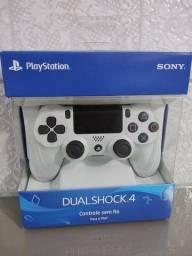 Título do anúncio: Controle Playstation 4 Sony Branco novo lacrado