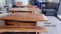Título do anúncio: Mesas Rustica São Joao lavras tres coraçoes e regiao - maciça