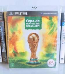 Título do anúncio: Copa do mundo da FIFA Brasil 2014 Jogo de PS 3 Midia Física Original Semi Novo