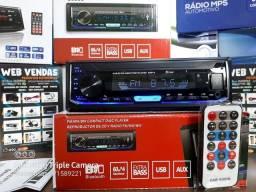 Título do anúncio: Radio automotivo Vijodi c Bluetooth saida didital usb auxiliar acende azul,