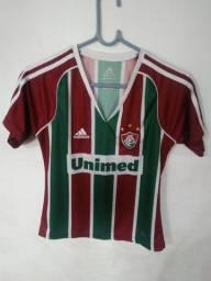 Linda camisa feminina baby look Fluminense 2011 home pouquíssimo uso!