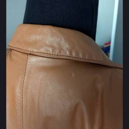 Jaqueta feminina couro caramelo