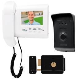 Kit Video Porteiro Interfone e fechadura elétrica - com instalação inclusa
