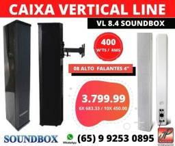 Caixa Ativa Vertical Line 400 W'ts RMS (Igrejas e Auditórios)