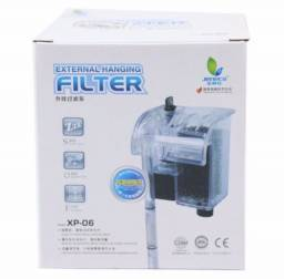 Vendo filtro externo aleas Xp06 110v 250l/h com 3 brindes