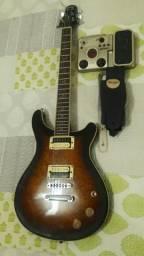 Guitarra Tagima Pr100 com pedaleira Zoom G1XN