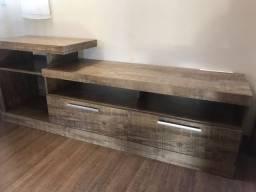Lindo Rack de madeira pesada com painel