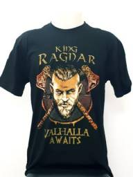 Camiseta dos vikings e game of trones