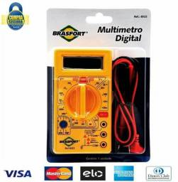Multímetro Digital Portátil, Visor Lcd DT 8522 com Sinal Sonoro