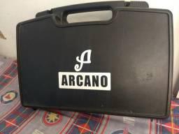 Microfone Headset + Microfone Lapela + Transmissor Arcano Duplo