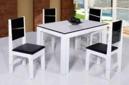 Conj. Mesa 4 cadeiras Milena - Frete Grátis - Nota Fiscal
