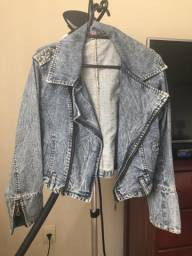 Jaqueta jeans feminina tamanho M