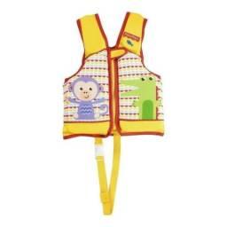 Colete Salva Vidas Fisher Price Infantil Proteção Fator 50 tamanho P e M