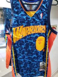 a80038b23 Camisa Basquete oficial Warriors Bape 93