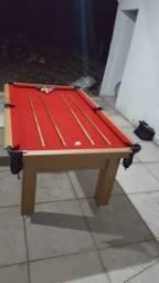 Mesa Tentação e Jantar Cor Cerejeira Tecido Vermelho Mod. SXBD5813