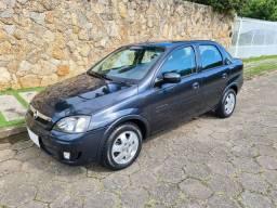 Lindo Corsa Sedan Premium 2009 1.4 completo impecavel troco e financio